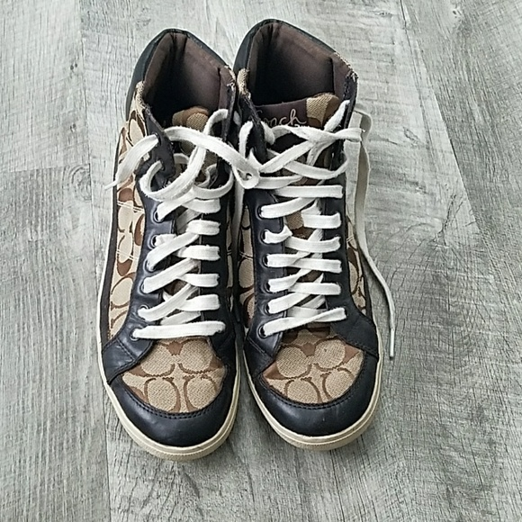 Gently used Coach sneakers size 9
